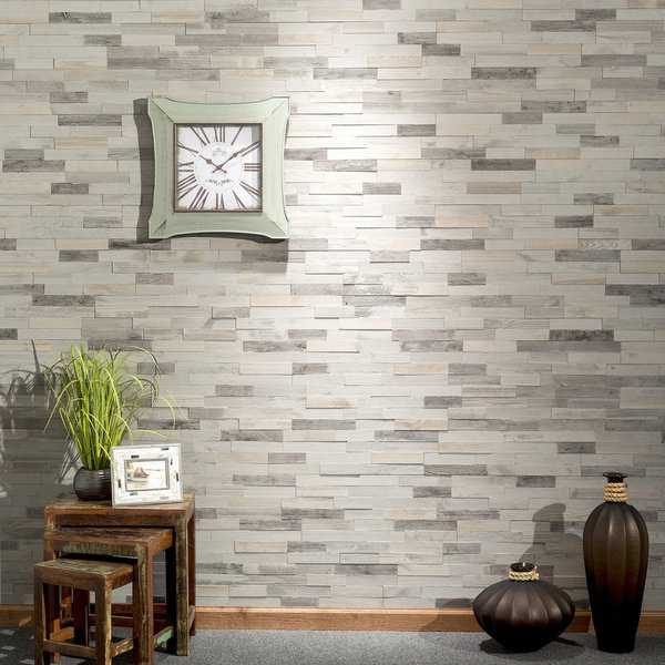 Aspect Peel n Stick Wood 6.5' x 24' Tile 5 pack- Weathered Barn ( approx. 5 sq ft)
