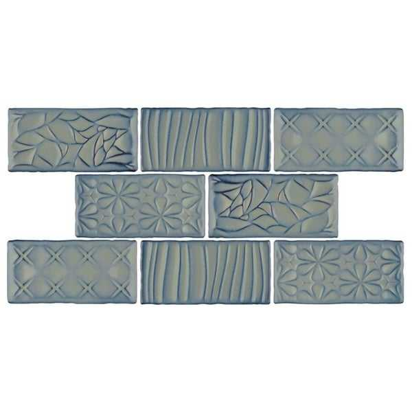 SomerTile 3x6-inch Antiguo Sensations Griggio Ceramic Wall Tile (8 tiles/1 sqft.)