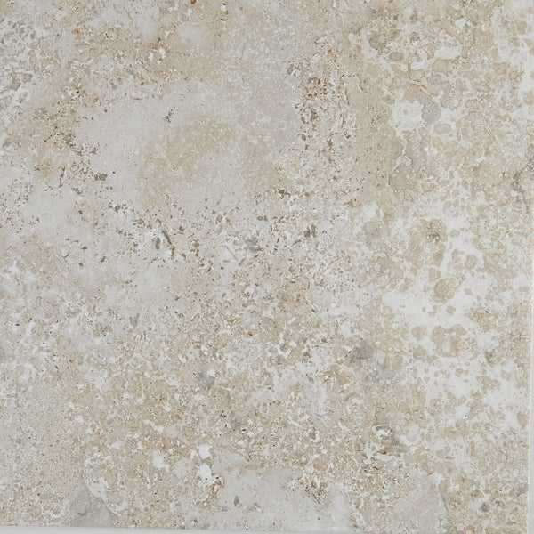 Blended Travertine Visual 18x18-inch Floor Tile in Silverstone - 18x18