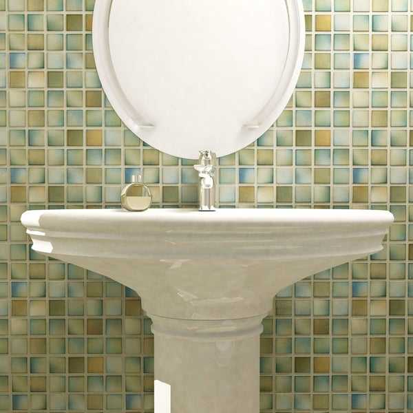 SomerTile 12.5x12.5-inch Knight Delta Porcelain Mosaic Floor and Wall Tile (10 tiles/11.07 sqft.)