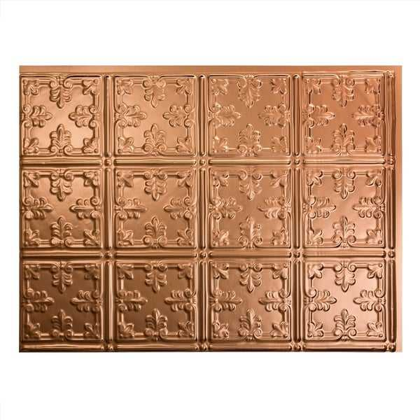 Fasade Traditional Style #10 Polished Copper 18 in. x 24 in. Backsplash Panel