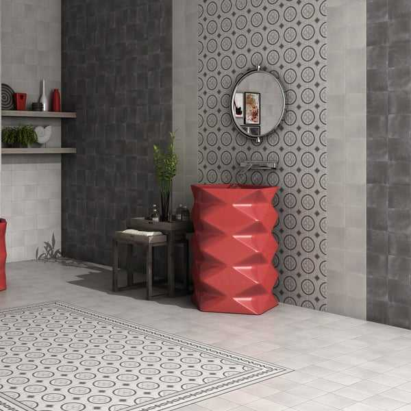 SomerTile 5.875x5.875-inch Guild Antracita Ceramic Floor and Wall Tile (22 tiles/5.73 sqft.)